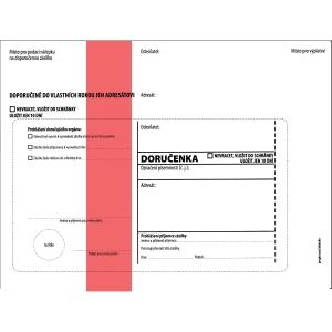 Obálka s doručenkou C5 (162 x 229 mm) s červeným pruhem, balení 50 Ks