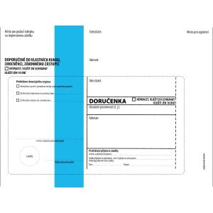 Obálka s doručenkou C5 (162 x 229 mm) s modrým pruhem, balení 50 Ks