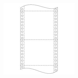 Papír do jehličkových tiskáren 54+54 g/m2, 1+1 vrstev, šířka 240 mm, délka 6´