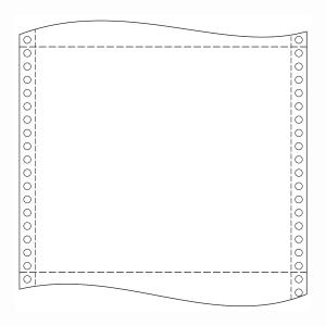 Papír do jehličkových tiskáren  60g/m2, 1+0 vrstev, šířka 390mm, délka 12´´