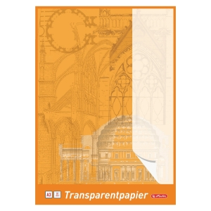 Pauzovací papír Herlitz A3 65g/m2, bílý, 25 listů