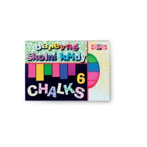 Školní křídy Koh-i-noor, barevné, balení 6 kusů