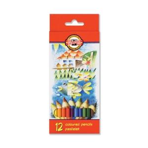 Pastelky Koh-i-noor, barevný mix, balení 12 kusů