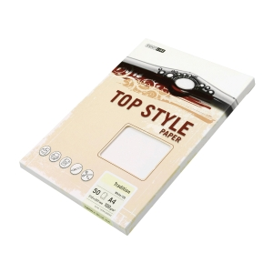 Papír se strukturovaným povrchem Top Style A4 100g/m2, Tradition, bílý