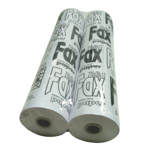Faxová rolka 55g/m2,  216mm/30m/12mm
