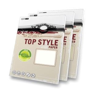Papír se strukturovaným povrchem Top Style A4 220g/m2, Linen, bílý