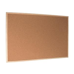 Korková tabule s dřevěným rámem 120 x 90 cm