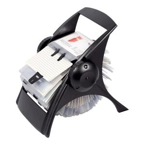Rotační vizitkář ICO - černý, 200 pouzder