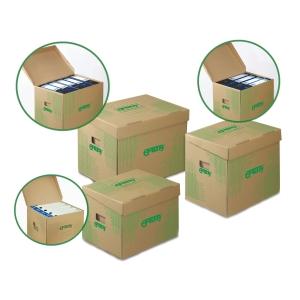 Archivační úložné krabice Emba - 33 x 30 x 24 cm, hnědá, 10 ks