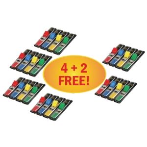 3M Post-it® 683 Záložky 12x44 mm, 4 barvy, bal. 4+2x140 lístků
