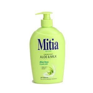 Tekuté mýdlo Mitia aloe a mléko 500 ml