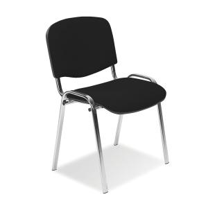 Konferenční stohovatelná židle ISO Chrome - černá
