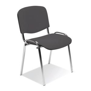 Konferenční stohovatelná židle ISO Chrome - antracitová