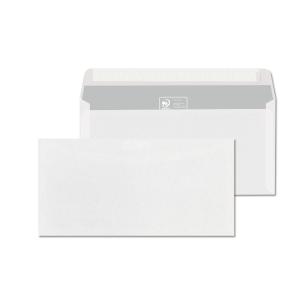 Obálky bílé samolepicí s krycí páskou DL (110 x 220 mm), 1000 ks/balení