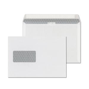 Obálky samolepicí s krycí páskou bílé C5 (162 x 229 mm), okno vlevo, 500ks/bal
