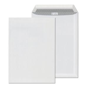 Samolepicí bílá taška s krycí páskou C4 (229 x 324 mm), 250 ks/balení