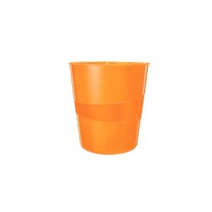 Odpadkový koš Leitz WOW 15 l, metalicky oranžový