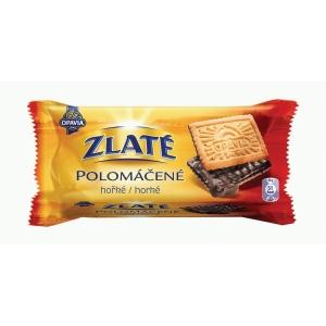 Zlaté polomáčené s hořkou čokoládou 100 g