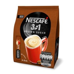 Nescafé 3v1 s hnědým cukrem, balení 10 ks (10x16.5g)