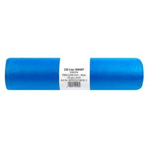 Odpadkové pytle v roli 23 mikronů, 120 l, modré, 25 kusů/balení