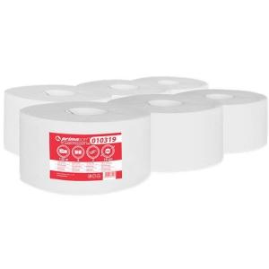 Jumbo mini toaletní papír, 19 cm, 2vrstvý, bílý, 6 kusů/balení