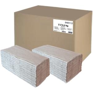 Skládané papírové ZZ utěrky PrimaSoft šedé, 20 balení po 210 ks