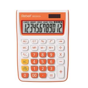 Rebell SDC912+ stolní kalkulačka 12místná, oranžová