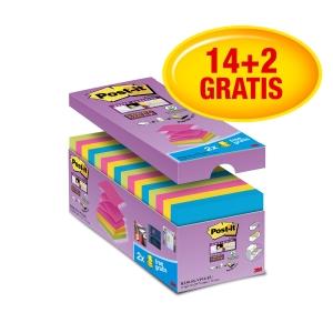 3M Post-it® R330 Super Sticky z-bločky 76x76 mm, barev., bal. 16 bločků/90 lístk