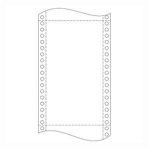 Papír do jehličkových tiskáren 60g/m2, 1+0 vrstev, šířka 210 mm, délka 12´´