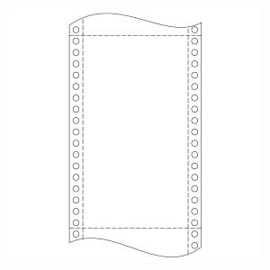 Papír do jehličkových tiskáren 54+54g/m2, 1+1 vrstev, šířka 210 mm, délka 12´´