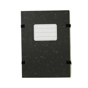 Spisové desky, papírem potáhnutá lepenka, A4, barva černá