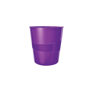 Odpadkový koš Leitz WOW 15 l, purpurový