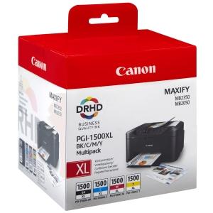 CANON inkoustová kazeta PGI-1500 XL (9182B004), 4barevná Č/C/M/Ž