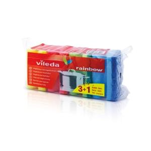 Houbičky na mytí nádobí s chráničem nehtů, 4 kusy