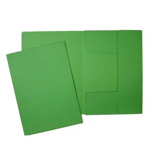 Odkládací mapa se 3 klopami classic Hit Office, zelená