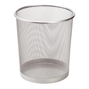 Drátěný odpadkový koš SaKOTA 10 l, stříbrný