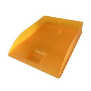 Odkladač na dokumenty Herlitz A4 - oranžový průhledný