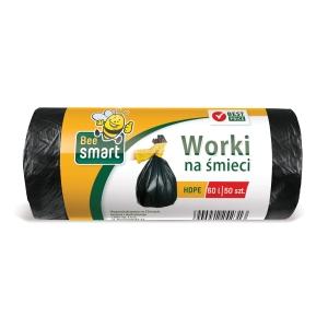 Paclan pytle na odpad 60 l černé nezatahovací, 50 kusů v rolce