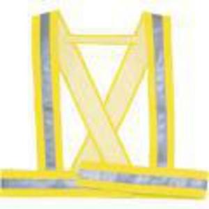 Ramenní reflexní pás DELTA PLUS BAUCE, velikost M, fluorescenční žlutá