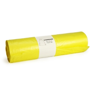 Pytle na odpad 120 l, 70 x 110 cm, žluté, 25 ks