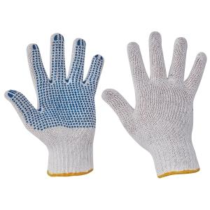 Textilní rukavice s PVC terčíky, velikost 10, 12 párů