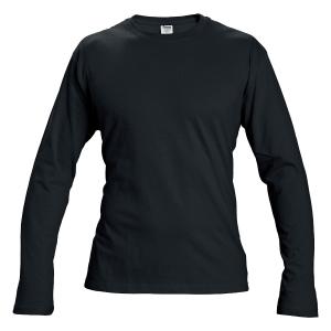 Tričko s dlouhým rukávem, bavlna, velikost L, barva černá