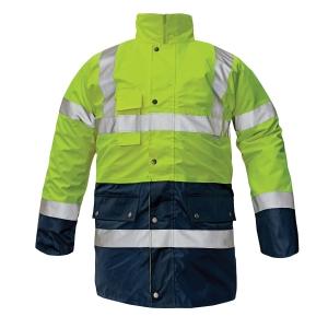BIROAD Reflexní bunda M žlutá/námořnická modrá