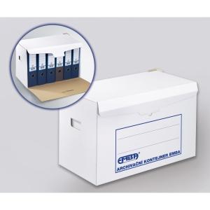 Emba archivační kontejner K/6x80 na pořadače, barva bílá, 10 kusů