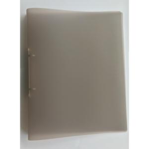 2-kroužkový pořadač PP 25 mm, kroužek  O  - 20 mm, transparentní kouřový