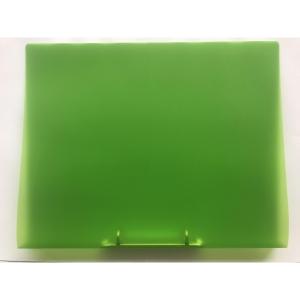 2-kroužkový pořadač PP 25 mm, kroužek  O  - 20 mm, transparentní zelený