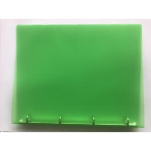 4-kroužkový pořadač PP 25 mm, kroužek  O  - 20 mm, transparentní zelený