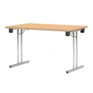 Skládací konferenční stůl  Eryk, 120 x 80 x 72 cm, odstín javor