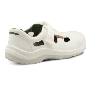 OMEGA LUX S1 Sandály na suchý zip, velikost 40, barva bílá