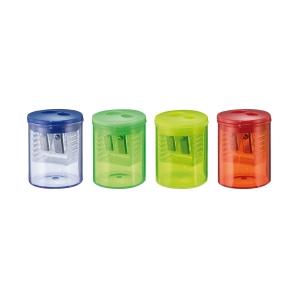 Dvojité ořezávátko s nádobkou Herlitz -pro trojhranné tužky a pastelky